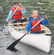 Two Kids In A Clipper Canoe